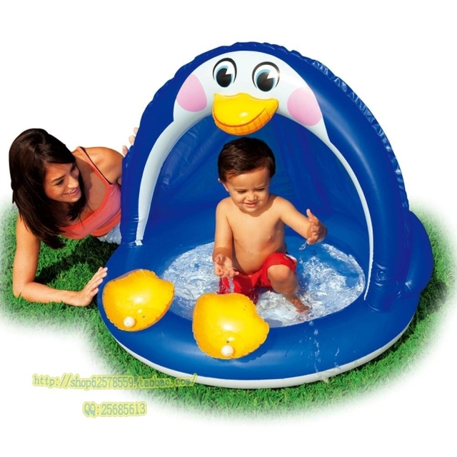 Free shipping Original intex 57418 penguin pool inflatable infant swimming pool bathtub sand pool inflatable