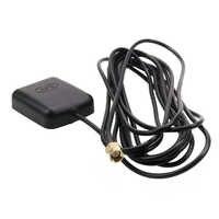 Amplificador repetidor eletrônico 3 metros sma conector preto base magnética sinal de navegação do carro fortalecer acessórios antena gps