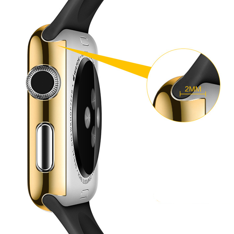 POMER Keras PC Penuh Penutup Pelindung Kasus Ultra tipis Emas Disepuh - Aksesori dan suku cadang ponsel - Foto 3