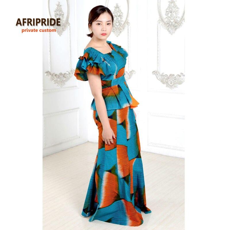 Izvorni afrički print klasični suknja set za žene AFRIPRIDE - Nacionalna odjeća - Foto 3