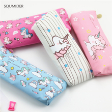 Pen-Bag Stationery-Supplies Pencil-Case Unicorn Office Creative School for Kids Gift