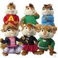1 unids toda la familia Alvin y las Ardillas ardilla de peluche de juguete de peluche de juguete de Peluche Muñecas Para Niños Regalos Juguetes
