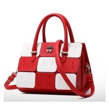 Women Bag New Fashion Panelled Leather Women Handbags Multicolor Patchwork Shoulder Bag Classic Women Bag Tote sac a main bolsos