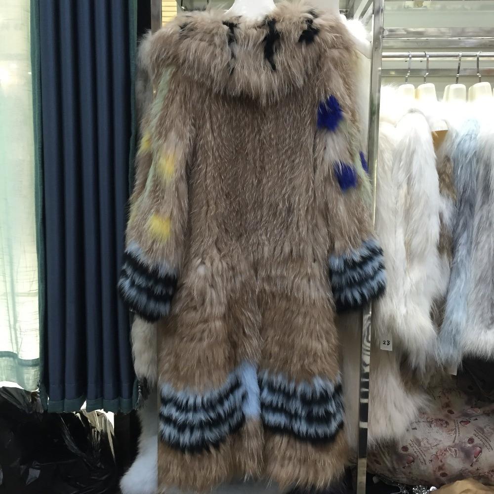 Nouvelle Mode De Armure Élégant Tricoté Vestes Manteau Renard Longue Sqxr Belle Chaud Épais Mince Fourrure Pardessus Multi Femmes Réel q05ECnw