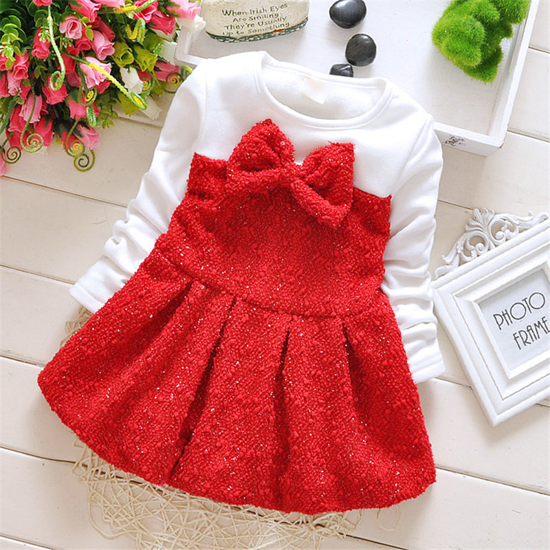 822d61ac8 Girl Dress For Baby Girls Winter Plus Thick Velvet Girls Party ...