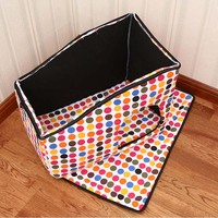 Fashion Dog House Pink Brick Wall Dot Pet Kennel New Design Easy To Take And Packaged
