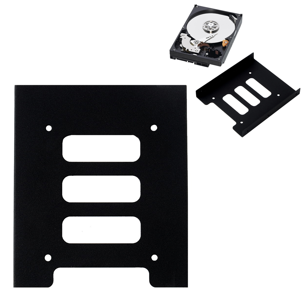 Wholesale 2.5 Inch SSD HDD To 3.5 Inch Metal Mounting Adapter Bracket Dock Hard Drive Holder For PC Hard Drive Enclosure
