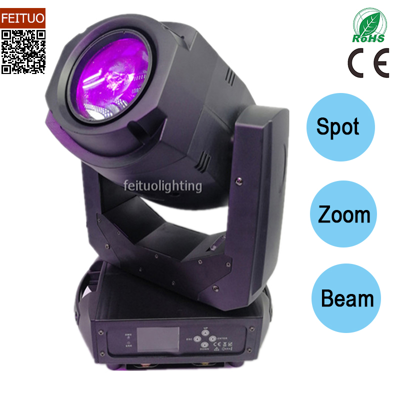 4pcs/lot Lyre DMX 200w Led Spot Moving Head Stage Light Zoom Beam Spot 3in1 Led Moving Head Gobo Projector Dj Disco Light