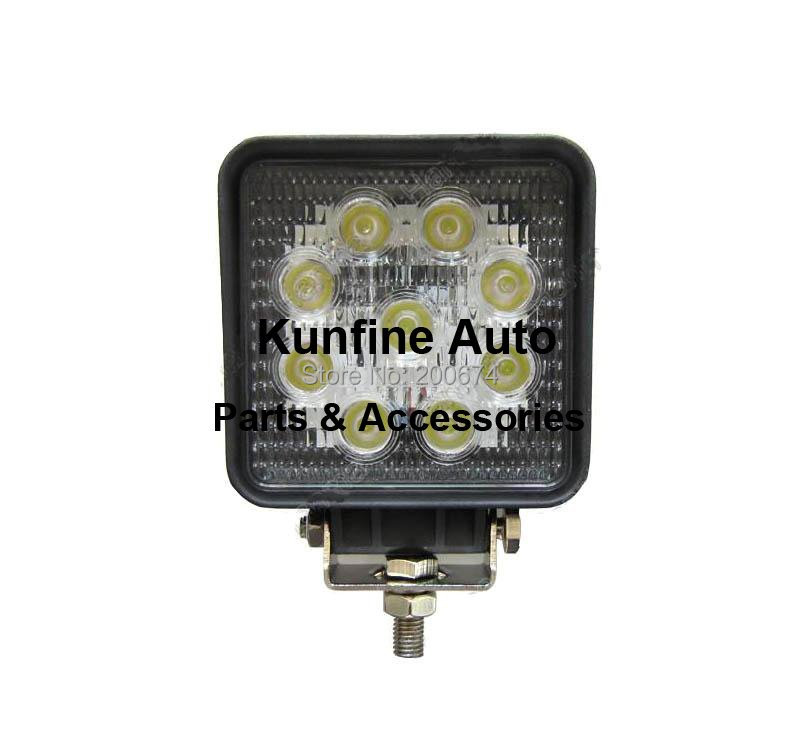 Free shipping,2PCS/LOT waterproof IP67,10~30V 27W Auto high power LED work Light square light with  18months warranty !