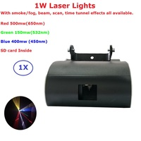 1W Dolphin Laser Stage Lighting 1 Lens 128 Patterns RGB 3 Color Laser Projector With SD Card Perfect For DJ Disco Party XMAS