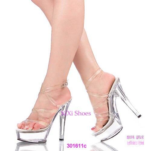 ФОТО Adhesive Thin Heels Pumps Basic Medium(B,M) PVC High (3