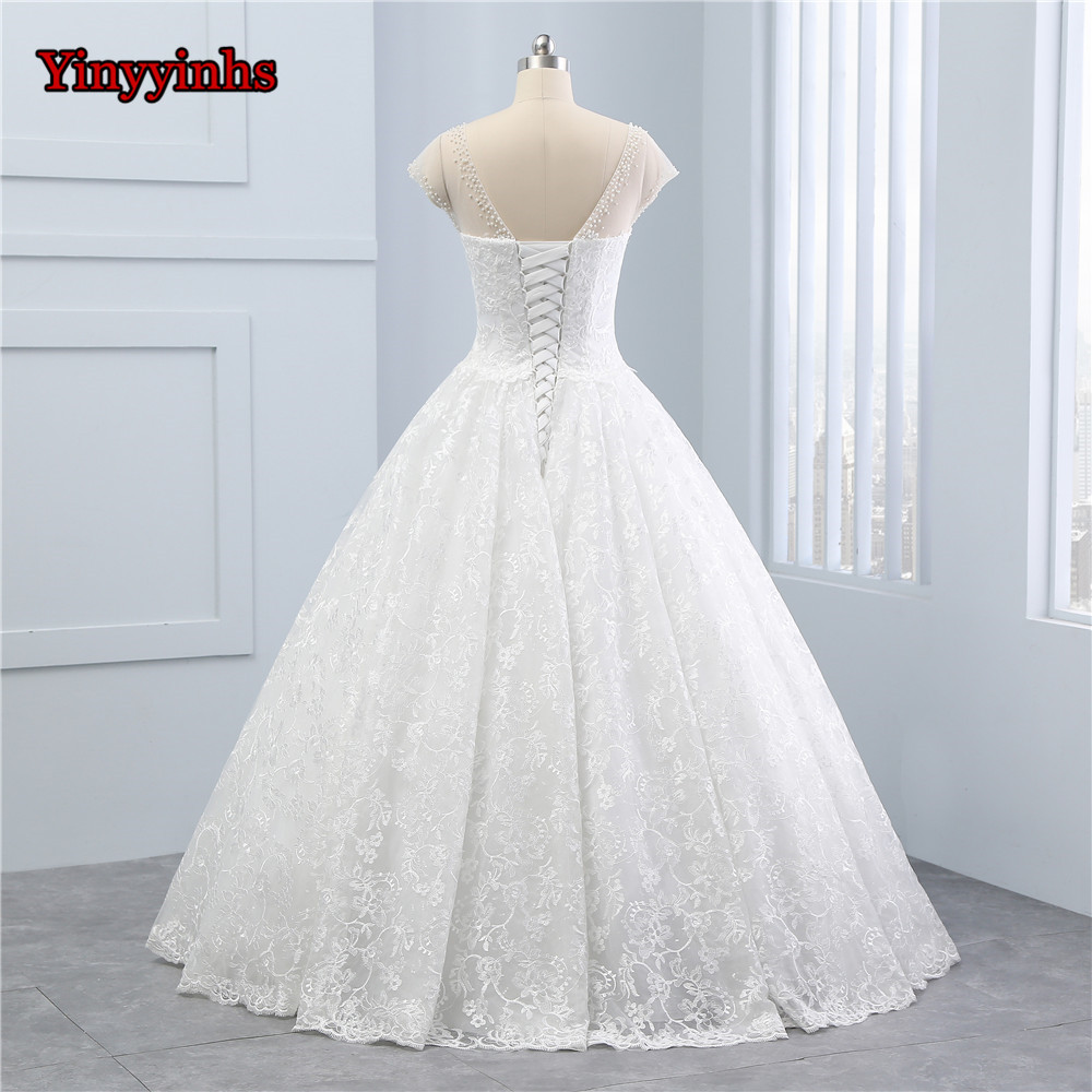 Aliexpress.com : Buy Yinyyinhs Robe De Mariage O Neck Ball Gown ...
