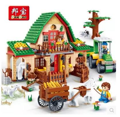 BB Model Compatible with Lego BB8579 541Pcs Happy Farm Models Building Kits Blocks Toys Hobby Hobbies For Boys Girls a models building toy compatible with lego a28002 838pcs happy farm blocks toys hobbies for boys girls model building kits