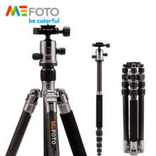 MeFOTO C1350Q1 Metallic Colors Carbon Fiber Tripod For Camera Travel Monopod Tripods Dslr Extendable Up to 61.6″ Tripode