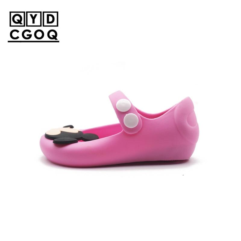 Mini Melisse Stil Mickey Minnie Muster Mädchen Gelee Sandalen 2018 Neue Schöne Mädchen Sandalen Kleinkind Kinder Strand Schuhe Nicht- slip