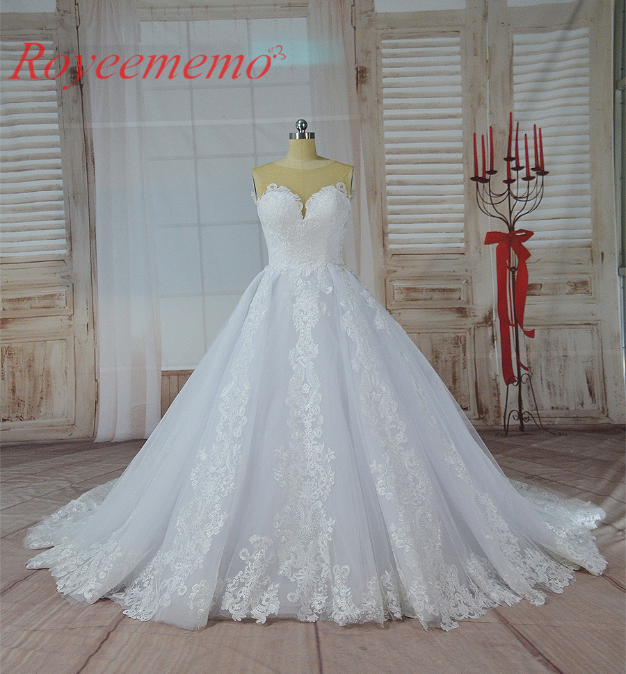 Popular Lace Designer Wedding Gowns-Buy Cheap Lace Designer ...