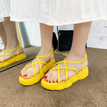 Cremulen 2019 Fashion women flat shoes causal Outside summer sandals soft leather leisure ladies Transparent beach