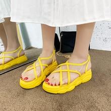 Cremulen 2019 Fashion women flat shoes causal Outside summer sandals soft leather leisure ladies Transparent beach