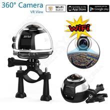 จัดส่งฟรี! 360กระทำกล้อง4พันVRโหมด16MP 360องศาWIFIพาโนรามากีฬากล้อง2448จุดHD 3Dวิดีโอกล้องระยะไกลควบคุม