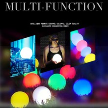 16 Color Change With Remote Control Glowing Waterproof LED Sphere Ball Night light USB Rechargeable Table Lamp(China)