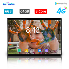 CIGE 10.1 inch tablet pc Android 8.0 Octa Core Ram 6GB ROM 64GB Dual SIM card 4G