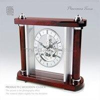 Temps précieux--main cristal piano peinture acajou horloge wc101