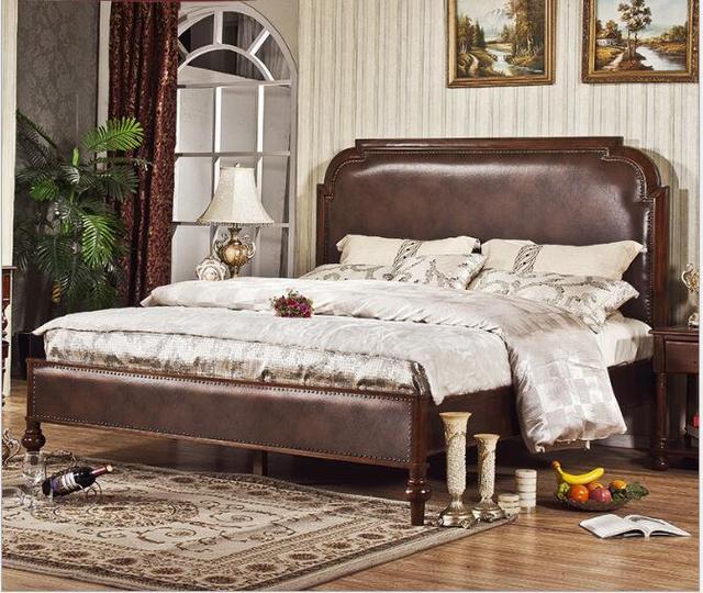 US $1690.0 |Americano solido legno 1.5/1.8 metri letto matrimoniale  autentico nuovo classico color noce in Americano solido-legno 1.5/1.8 metri  letto ...