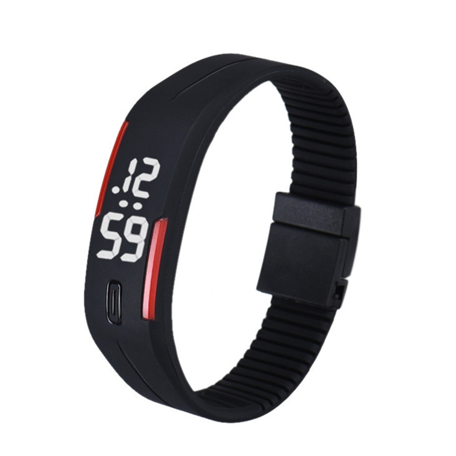Splendid New Mens Womens Rubber Silicone Wristwatches  Masculino Reloje LED Watch Date Sports Bracelet Digital Wrist Watch splendid brand new boys girls students time clock electronic digital lcd wrist sport watch