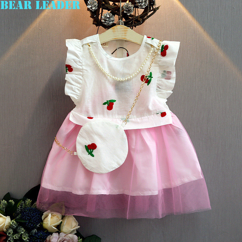 Подробнее о Bear Leader Girls Dress 2016 Brand Princess Dresses Kids Clothes Sleeveless Little Cherry Print Design for Girls Party Dresses bear leader girl dresses 2016 brand girls costumes princess dress kids clothes sleeveless bow plaid pattern girls dress children