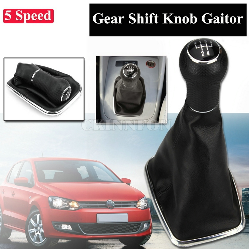 DHL 50 PCS 5 Speed Shift Knob Shifter Gear Gaitor Boot for VW Mk4 Golf GTI