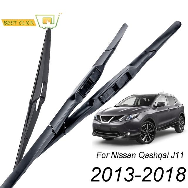 Misima Windshield Windscreen Wiper Blades For Nissan Qashqai J11 2013 – 2018 3 Section Front Rear Wiper 2014 2015 2016 2017