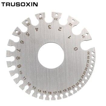 Welding tools Stainless Steel Wire Gauge Weld Diameter Gauge Welding Inspection Inch Measuring Gauges for Measurement Tool недорого