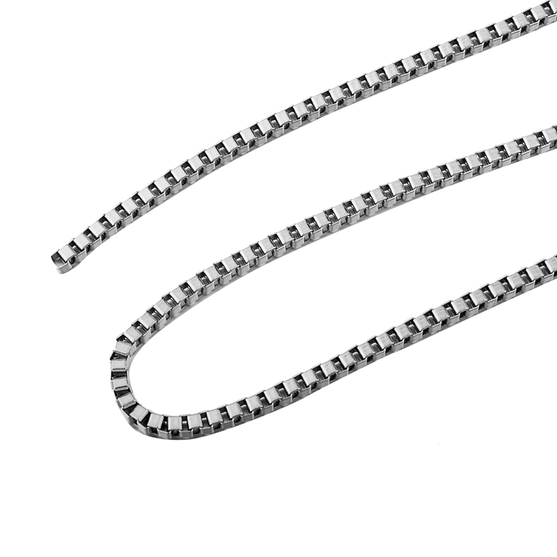 LASPERAL Stainless Steel Silver Box Chains For Bracelets Necklace Diy Jewelry Findings Components 2M Accessories High Quality