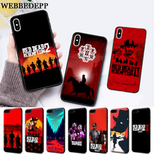 WEBBEDEPP game Red Dead Redemption 2 Silicone soft Case for iPhone 5 SE 5S 6 6S Plus 7 8 X XS Max XR webbedepp hot red dead redemption 2 glass phone case for apple iphone xr x xs max 6 6s 7 8 plus 5 5s se