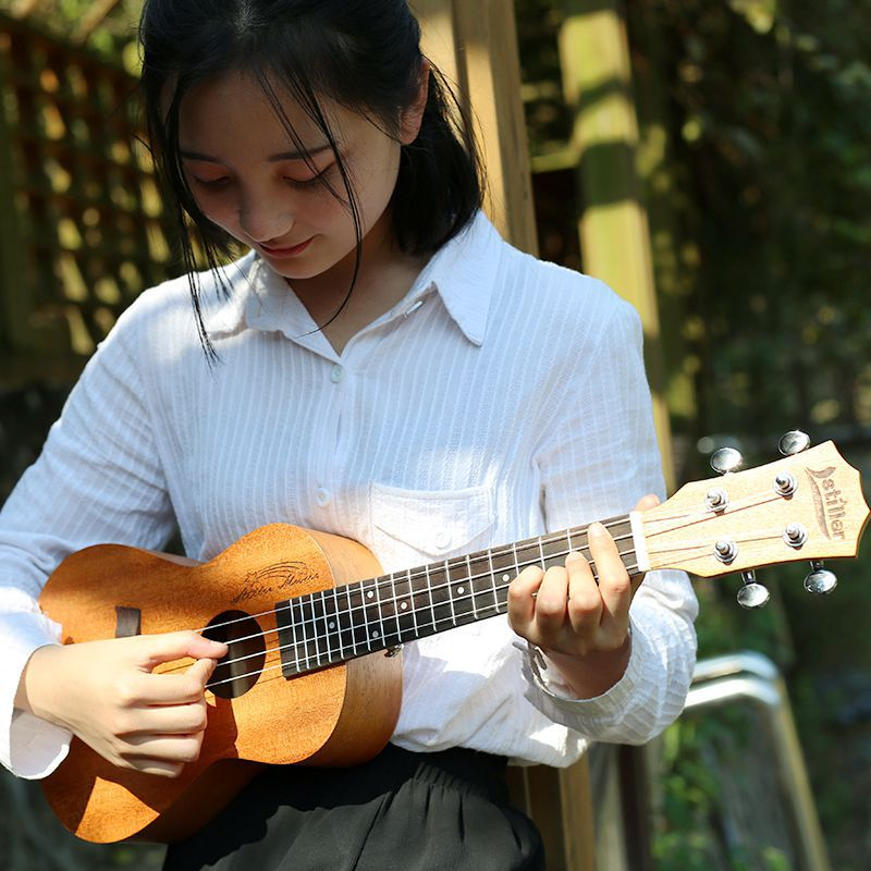 Soprano Concert Tenor Acoustic Electric Ukulele 21 23 26 Inch Mini Guitar Ukelele Guitarra Mahohany Light Color Plug-in Uke