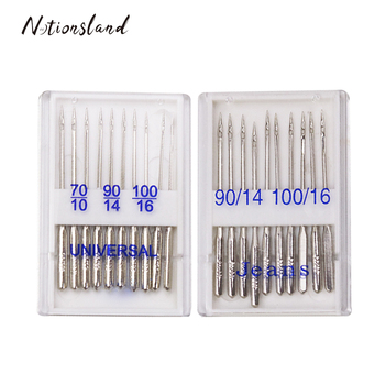 Top Quality 20pcs Home Sewing Machine Needles 70/10 90/14 100/16 DIY Jeans&General Sewing Tool Accessory недорого