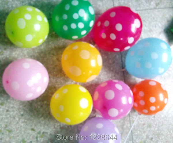 Full printing polka dots wedding decoration helium balloons best full printing polka dots wedding decoration helium balloons best price 100pcslot 12 inches factory outlet wholesale in ballons accessories from home junglespirit Gallery