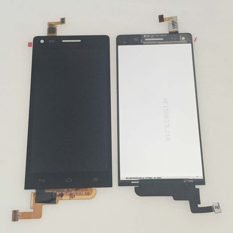 New Black LCD Display Screen Touch Digitizer Glass Assembly For Huawei Ascend G6 Replacement 5lcd replacement for huawei ascend p7 lcd display with frame touch panel screen digitizer glass assembly black white tool