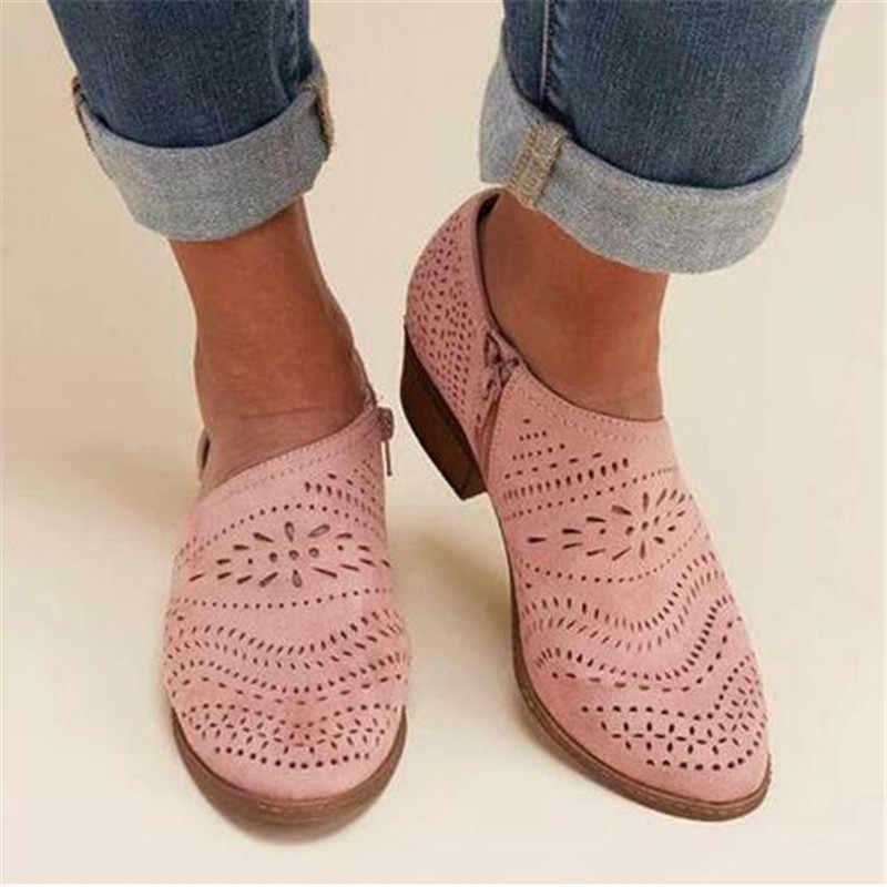 Platte Platform Schoenen Vrouwen Brogue Schoenen Leer Spitse Neus Oxford Schoenen Vrouwen Roze Geel Casual Schoenen mujer Plus Size 34 -43