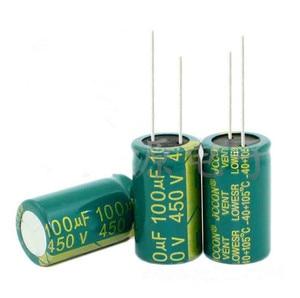 Image 1 - 450 v 100 uf 100 uf 450 v volume de Capacitor Eletrolítico 18X30 melhor qualidade New origina