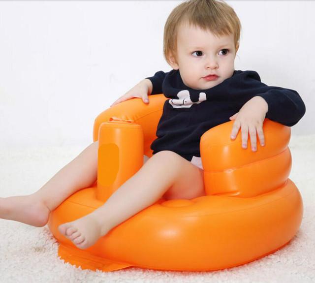 Hot Sale Super Macio Sofá Inflável Multifuncional Bebê Cadeira Do Sofá Sofá Assento Do Bebê Portátil Criança Crianças Cadeira De Assento De Banho