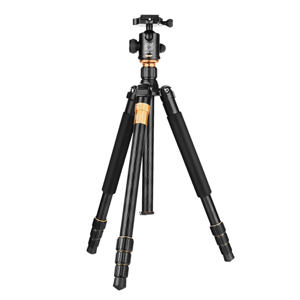 Q999 Professional Photography Tripod Portable Ball Head Monopod 4 Length Sections Tripod for SLR DSLR Camera Max Loading 15Kg lowepro protactic 450 aw backpack rain professional slr for two cameras bag shoulder camera bag dslr 15 inch laptop