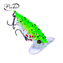 Купить с кэшбэком Peche Cicada Insect Fishing Lures Crankbaits Wobblers Bass Iscas Artificiais Fishing tackle Hard Lifelike Baits  Pesca Colorful