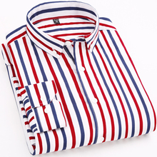 2019 Spring Fashion Striped Casual Mens Long Sleeved Shirts