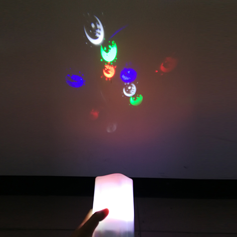 Projection Lamp Flameless LED Candle Battery Operated with Candy Moon Projection Remote Control --M25