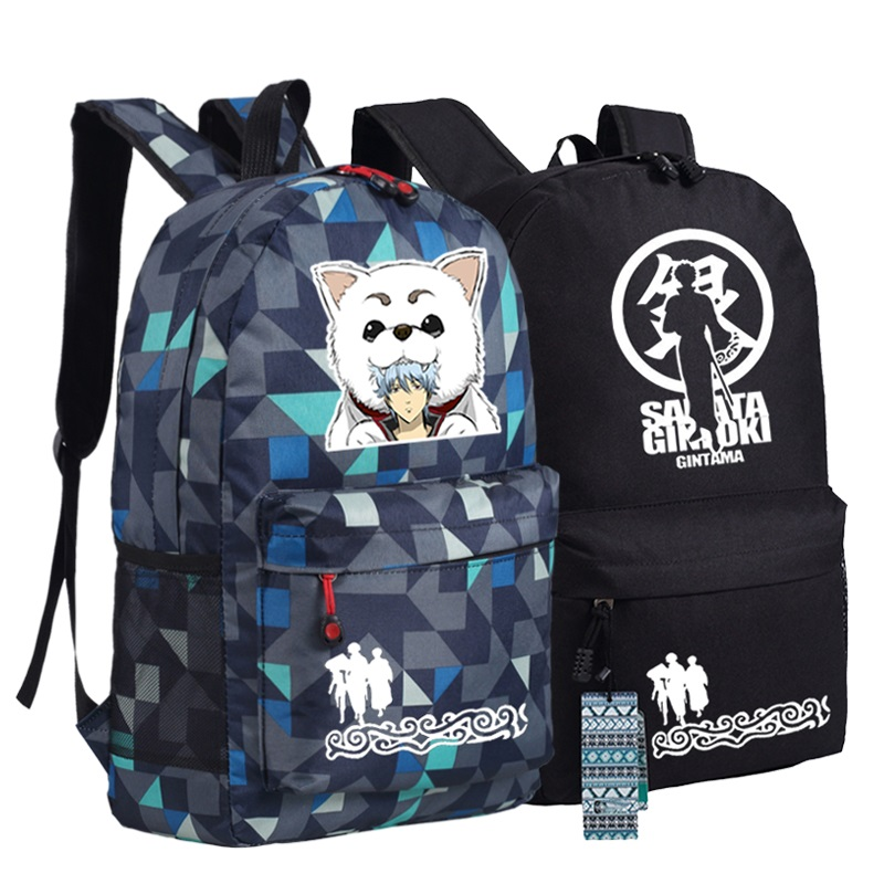 2017 Harajuku Cosplay Anime Gintama Sakata Gintoki Printing Backpack Canvas Mochila Women Backpack School Bags For Teenagers