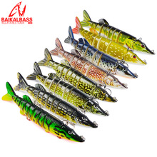 Large Size Sinking 9 Jointed Fishing Lures Hard Bait Swimmer Jerkbait Swimbait 125mm/20g Pesca Artificial Multi Baits
