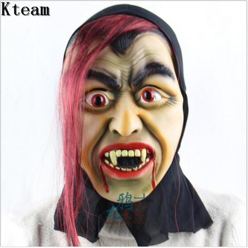 funny scary clown vampire mask full face cosplay horror masquerade adult ghost mask halloween props costumes fancy dress party - Scary Vampire Halloween Costumes
