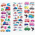 Kids Cartoon Bubble Stickers Diary Transport Cars Notebook Sticker For Children Girls&Boys Classic Toys Label Decoration B585