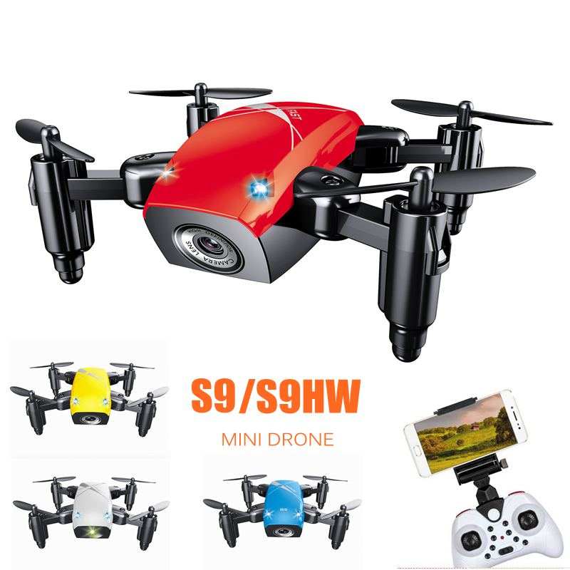 S9 S9hw Mini Drone With Camera Rc Helicopter Foldable Rc Drones Altitude Hold Rc Quadcopter Wifi Fpv Dron Remote Control Toys